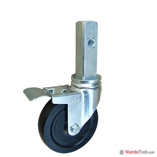 方杆式橡胶脚手架脚轮