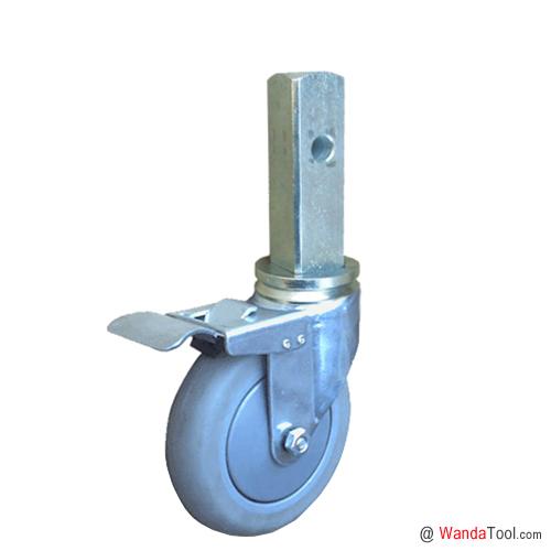 方杆式人造胶TPR脚手架脚轮