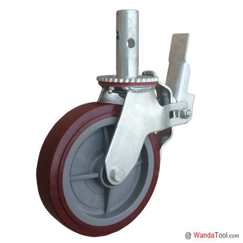 圆杆塑芯聚氨酯脚手架脚轮