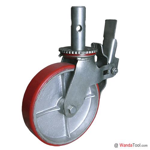圆杆铁芯聚氨酯脚手架脚轮