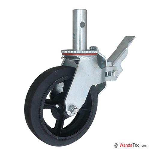 圆杆式橡胶脚手架脚轮