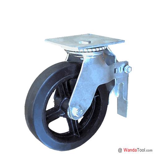 平板式橡胶脚手架脚轮