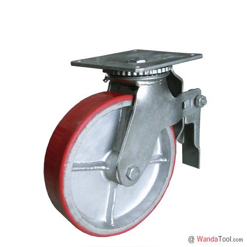 平板式铁芯聚氨酯脚手架脚轮