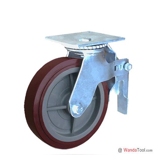 平板式塑芯聚氨酯脚手架脚轮