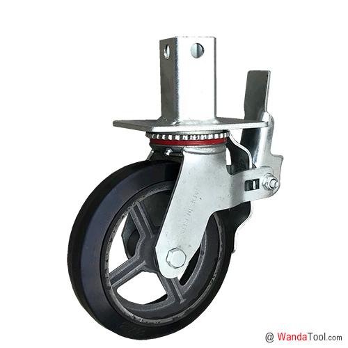 方管式橡胶脚手架脚轮