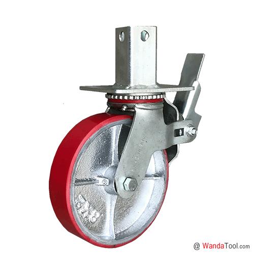 方管式铁芯聚氨酯脚手架脚轮