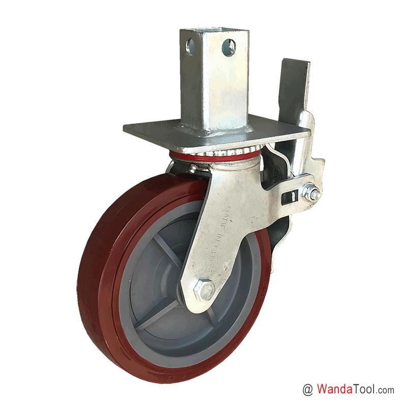 方管式塑芯聚氨酯脚手架脚轮