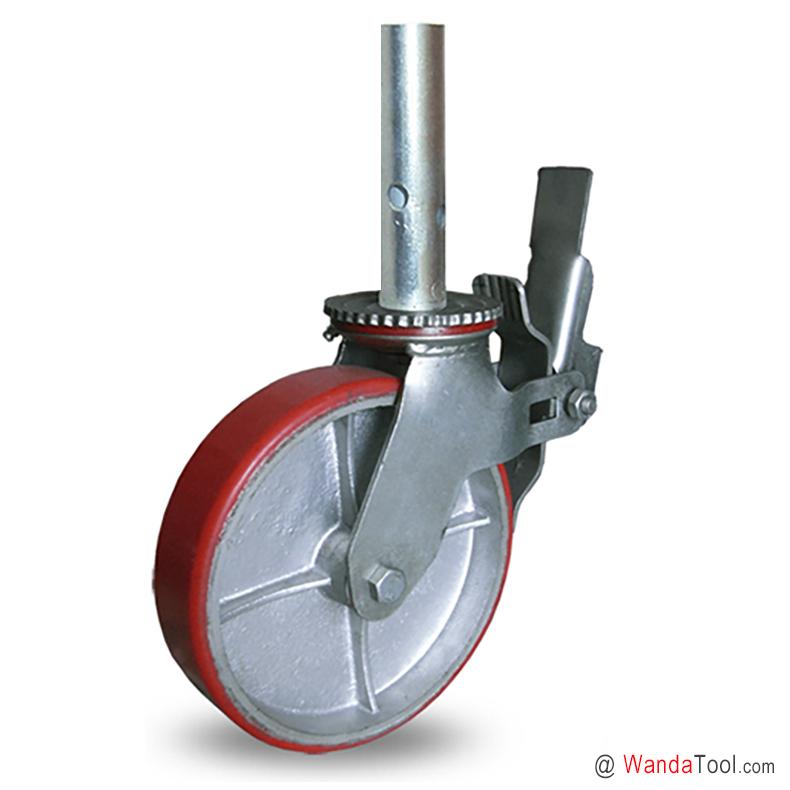 铁芯聚氨酯脚手架脚轮