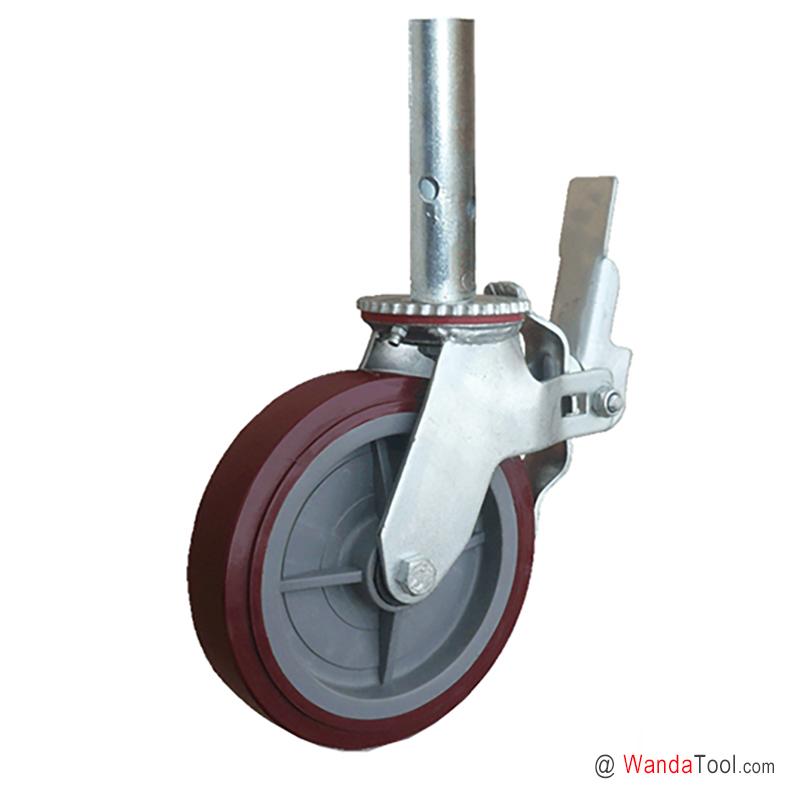 塑芯聚氨酯脚手架脚轮