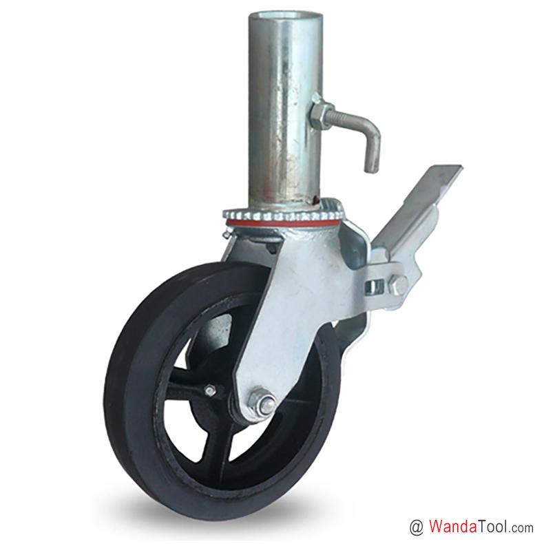 铁芯橡胶脚手架脚轮