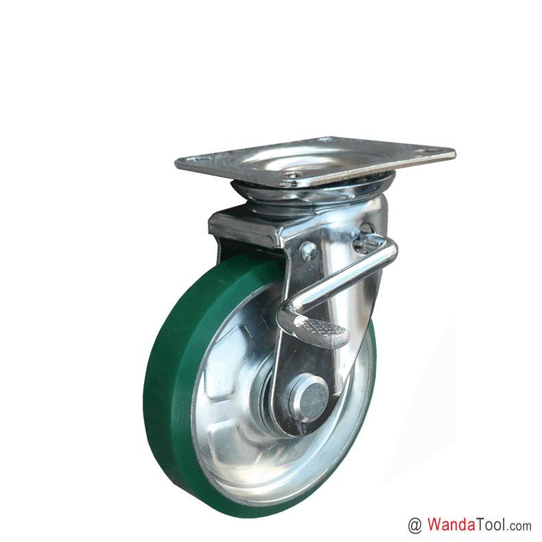日本工业聚氨酯脚轮-万向刹车脚轮